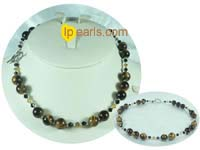10*14mm oval tiger eye gemstone beads necklace