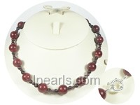 12mm red agate necklace wholesale