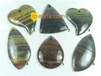 wholesale 5 pieces different shape yellow tiger iron pendant