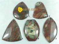 5 pieces different shape of green colorful veins pendant