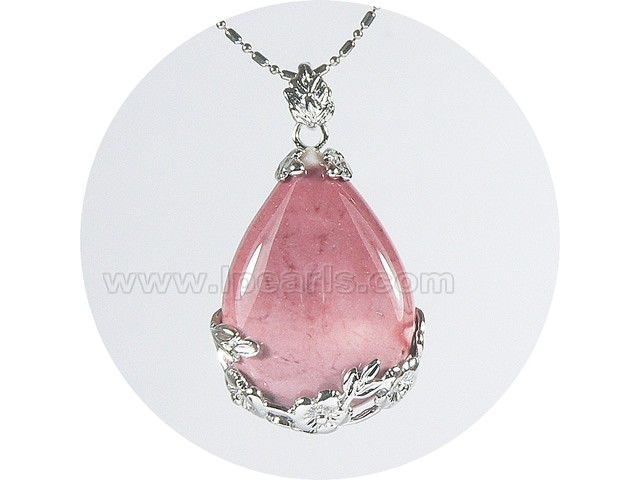 3555cm charming teardrop pink gemstone pendant lp pearl jewelry store 3555cm charming teardrop pink gemstone pendant aloadofball Image collections