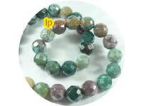 five pieces 12mm multicolor faceted indian agate strand