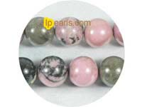 five pieces 12mm fiery rhodonite strand on wholesale