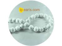 5 pieces 12mm ice-cream color howlite strand on wholesale