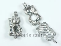 five pieces lucky design silver plated copper pendant