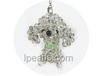 mini lovely and charming poodle mobile phone chain