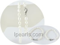 wholesale 5-6mm rice freshwater pearl Mother Daughter bracelet