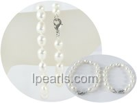 wholesale 7-8mm rice freshwater pearl Mother Daughter bracelet