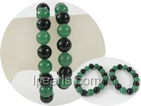 wholesale 10mm green jade Mother Daughter bracelet