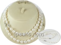 wholesale 8-9mm rice pearl Mother Daughter necklace