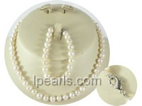 wholesale 6-7mm potato pearl Child's necklace and bracelet se