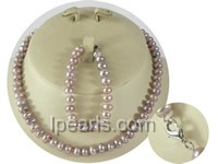 wholesale 7-8mm butto pearl Child&#39s necklace and bracelet set