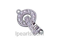 5pcs round 9.8mm 925 sterling silver decorative clasp