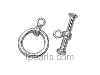 5pcs 11mm 925 sterling silver toggle clasp