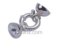 5pcs cute 16mm 925 sterling silver spring ring clasp