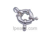 5pcs 12mm 925 sterling silver spring ring clasp with rings