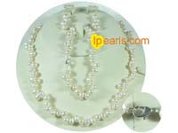white 6-7mm top-drilled freshwater pearl jewerly set
