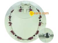 wholesale freshwater pearl with silver chain sets