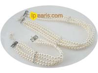 wholesale 4-5mm round freshwater pearl necklace and bracelet set