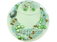 beautiful multicolor coin pearl and dacing pearl jewelry sets