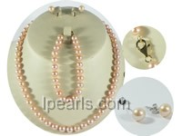 wholesale 7-8mm pink round freshwater pearl sets