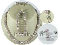 wholesale 7-8mm purple round freshwater pearl sets