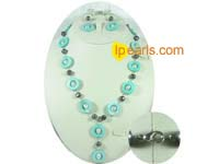 20mm shell pearl jewelry necklace and earrings set