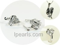 screwy sterling silver rhodium plated set