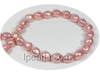 12*14mm pink baroque nugget shape shell pearl strand on wholesal