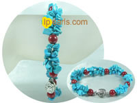 whosale turquoise with coral beads bracelet