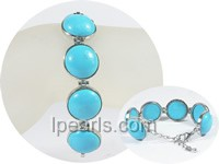 20*26mm blue oval turquoise bracelet wholesale