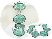 20*26mm green oval turquoise bracelet wholesale