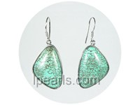 20*28mm green triangle turquoise earrings wholesale
