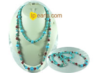 wholesale two strands turquoise necklace