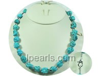 10*15mm irregular bule turquoise necklace