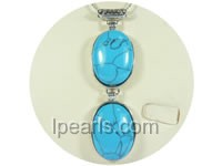 4*8.5cm two rows green oval turquoise pendant