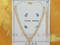 different sizes of pink pearl necklace set