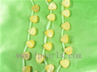 five strands of 13mm yellow triangle shell strands