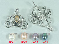 5pcs autobike shape 18K GP wish pearl pendant set on wholesale